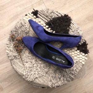 Aldo royal blue heels